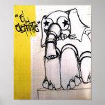 Poe Dis Elephant Posters
