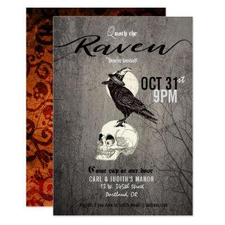 Poe Raven Halloween Party Invitation