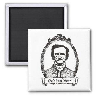 Poe: The Original Emo Square Magnet