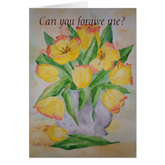 Poem Card Yellow Tulips