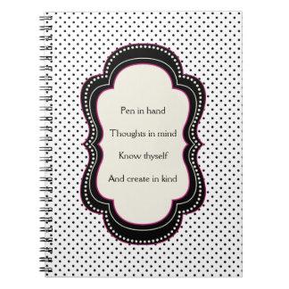 Poem for Writers Polka Dot Notebook
