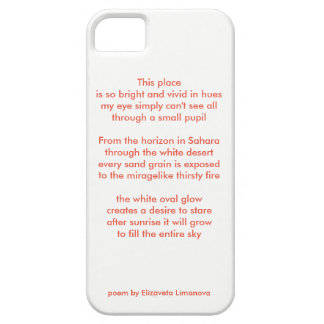 "poem ""Red"" by Elizaveta Limanova Barely There iPhone 5 Case"