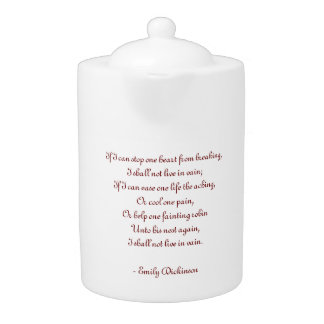 Poem Teapot