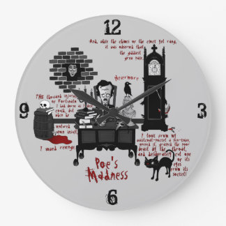 'Poe's Madness' (Version 2) Clock