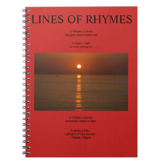 Poet's Notebook, Lines of Rhymes Notebooks