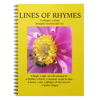 Poet's Notebook, Lines of Rhymes Yellow Notebook