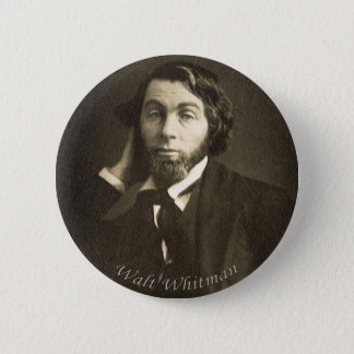 Poet Walt Whitman in New Orleans 6 Cm Round Badge