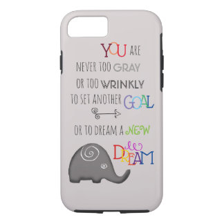 Poetic Creative Inspirational 50pls Elephant iPhone 8/7 Case