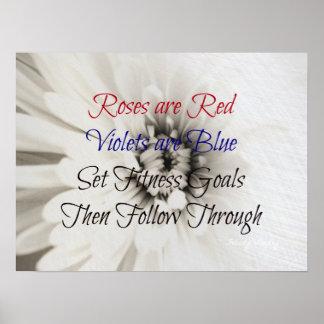 Poetic Fitness Flower! Poster