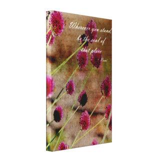 Poetic Pink Floral Canvas Print