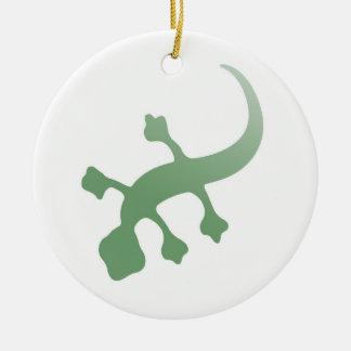 Poetica Gecko in Green Ceramic Ornament