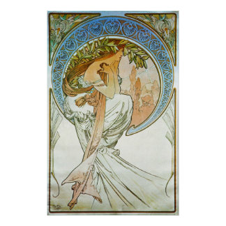 Poetry Allegory Art Nouveau Poster