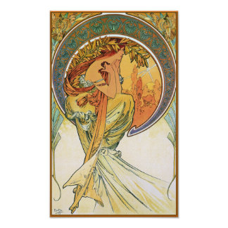 Poetry by Alphonse Mucha Poster