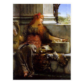 Poetry by Sir Lawrence Alma-Tadema Postcard