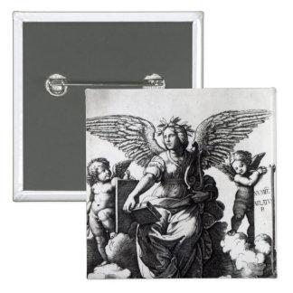 Poetry, c.1515 15 cm square badge