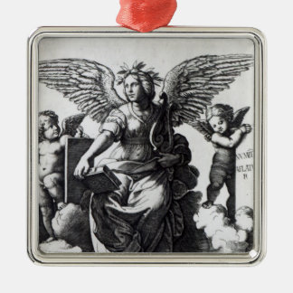 Poetry, c.1515 Silver-Colored square decoration