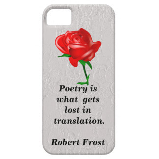 poetry iPhone 5 cover