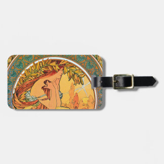 "POETRY from the series ""The Arts"" by Mucha Luggage Tag"