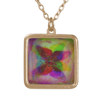 Poetry in a Crazy Mind Square Pendant Necklace