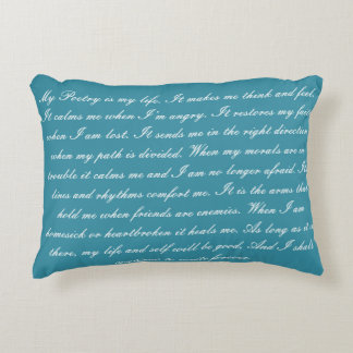 Poetry is My Life Decorative Cushion