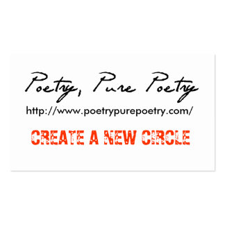 Poetry, Pure Poetry Gig Drop Cards Business Card Template