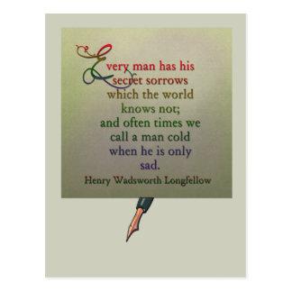 Poetry quote wisdom postcard