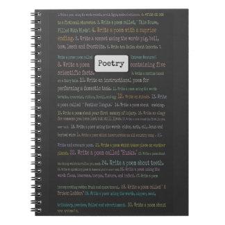 Poetry Scavenger Hunt Journal Spiral Notebook