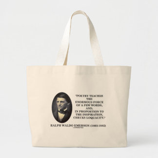 Poetry Teaches Enormous Force Of Few Words Quote Jumbo Tote Bag