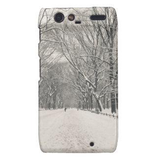 Poet's Walk - Central Park Winter Droid RAZR Covers