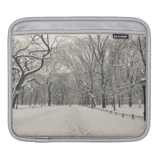 Poet's Walk - Central Park Winter Sleeve For iPads