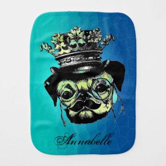 Pog Dog - Aqua Graphic Illustration Burp Cloth