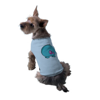 Pogo O.o Custom Cyan Doggie Ribbed Tank Top Sleeveless Dog Shirt