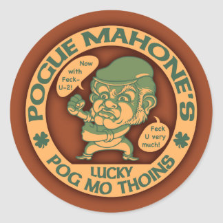 Pogue's Lucky Thoins Round Sticker