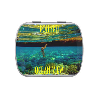 POHNPEI OCEAN VIEW/CANDY TIN JELLY BELLY TIN