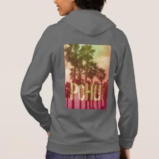 PoHuLocal-American Apparel Pink Logo Hood Hoodie