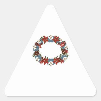 Poinsetta Wreath Stickers