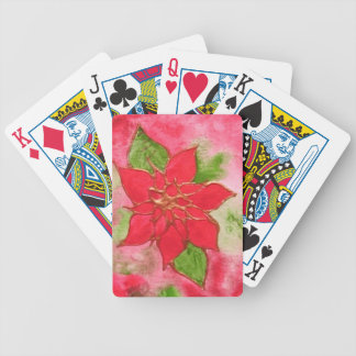 Poinsettia 1.JPG Bicycle Playing Cards