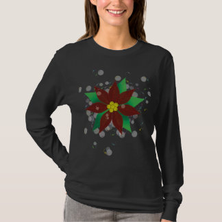 Poinsettia and Champagne Bubbles T-Shirt