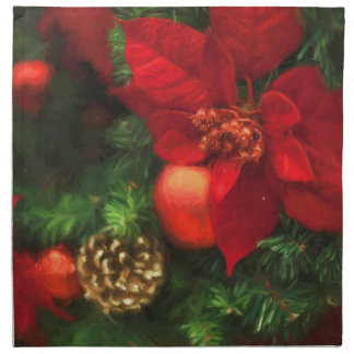 Poinsettia Beauty Cloth Napkin