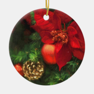 Poinsettia Beauty Ornament