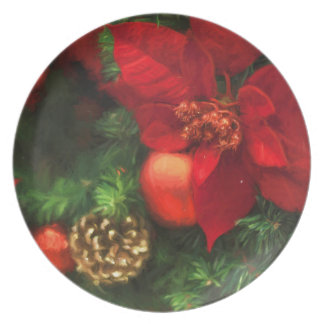 Poinsettia Beauty Plate