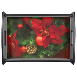 Poinsettia Beauty Serving Tray