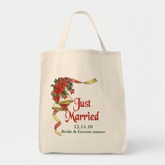 Poinsettia Bells Wedding Tote Tote Bag