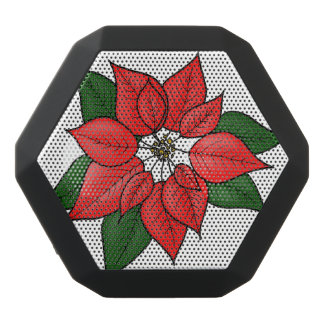 Poinsettia Black Bluetooth Speaker