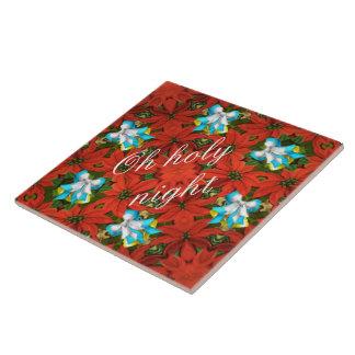 Poinsettia Ceramic Tile
