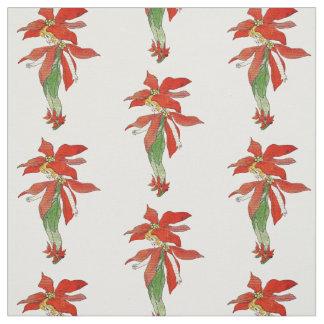 Poinsettia Christmas Flower Child Floral Fabric
