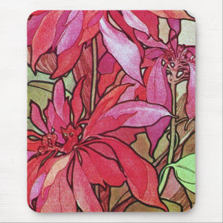 Poinsettia Christmas Mousepad Mouse Pad Mucha