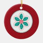 Poinsettia Christmas Ornaments