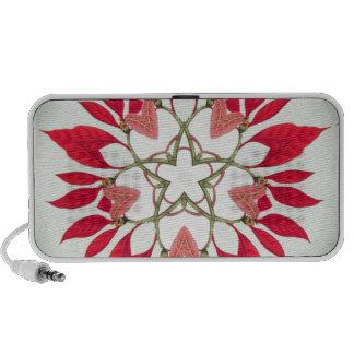 poinsettia christmas star design speakers