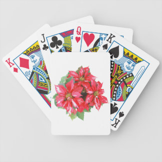 Poinsettia Christmas Star transparent PNG Bicycle Playing Cards